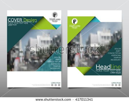 Green Triangle annual report brochure flyer design template vector, Leaflet cover presentation abstract geometric background, layout in A4 size