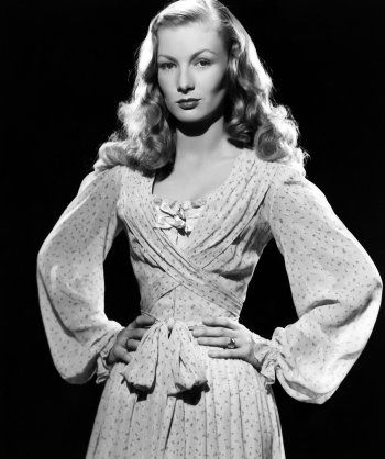 Edith Head's costume for Veronica Lake in Ramrod directed by André De Roth, 1947