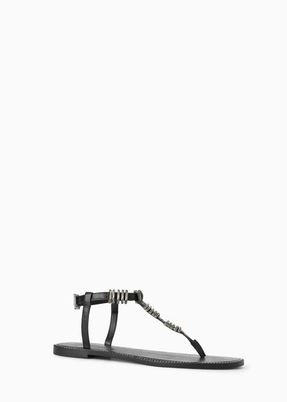 SPECIAL SIZES - Sandália pele missangas