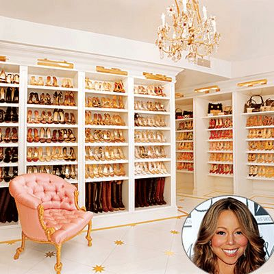 @Kaitlyn Chapman-Mortimer Mariah Carey's walk-in shoes wardrobe!!!