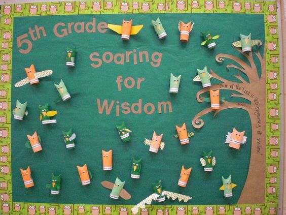 owl bulletin boards sayings | They loved making these, and I have gotten lots of compliments so far ...