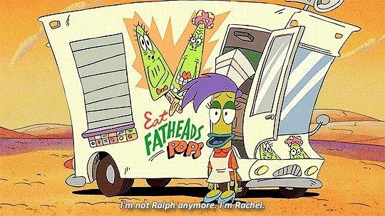 LGBTQ+ animated character Rachel Bighead
