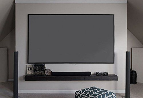 Elite Screens Aeon 100 Inch 16 9 Grey Material Home Theater Fixed Frame Edge Free Projection Proj Best Home Theater System Home Theater Setup Home Automation