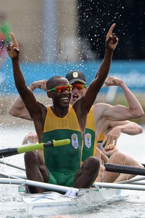 South African team winning the Olympic Gold for rowing - London 2012!