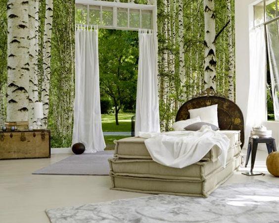 schlafzimmer wand gestalten inspirationen | schlafzimmer