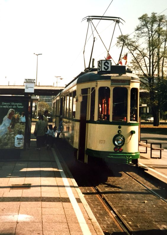 vintage Tramway in Duisburg, Germany