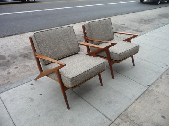 Pair of selig z chairs mid century modern danish chairs danish teak chairs teak furniture danish - Selig z chair reproduction ...