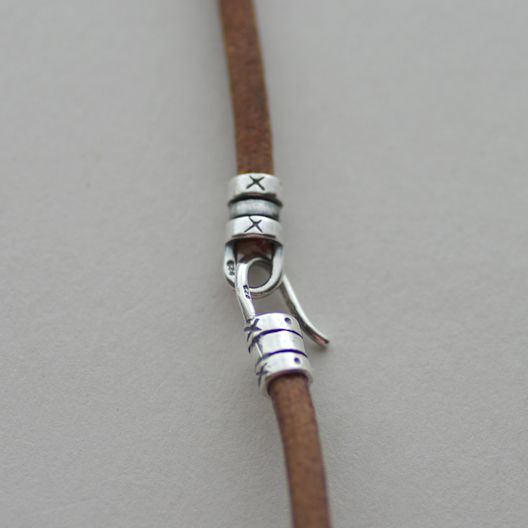Bead balance IDEA BLOG: wrap breath of metal parts and die natural leather cord