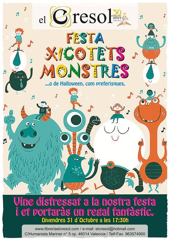 Este viernes a las 17:30 celebraremos una terrorífica #FestaXicotetsMonstres (O si lo prefieres Fiesta Halloween) con juegos, cuentos y diversión para todos los peques, y si vienes disfrazado ¡te llevarás un regalo monstruooooooso!