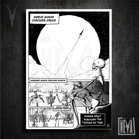 Poster da collezione 50x70 cm - Minds. Grandi, medie e piccole menti parlano - Design originale Heya di HeyaStore su Etsy