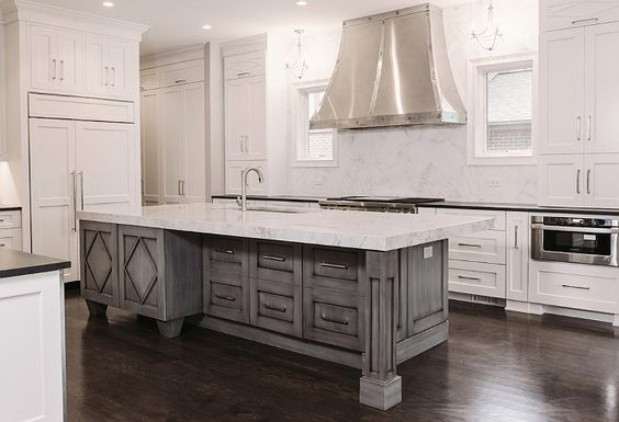Best Gray Wash Kitchen Island Summit Signature Homes Inc 400 x 300