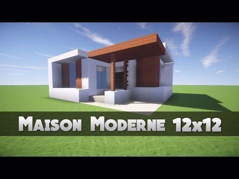 Minecraft Tuto Maison Moderne Youtube In 2020 Minecraft Small House Minecraft Modern Basement House Plans