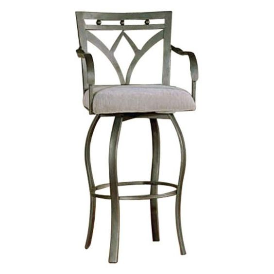 Steve Silver 30 Inch Madrid Bar Stool with Arms  Set of 2