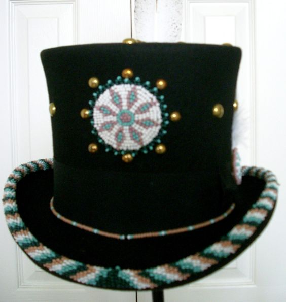 a compass hats and american indians on