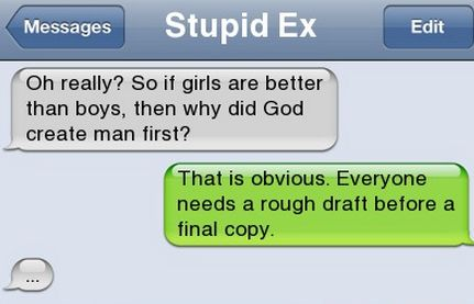 Epic text - Girls are better than boys