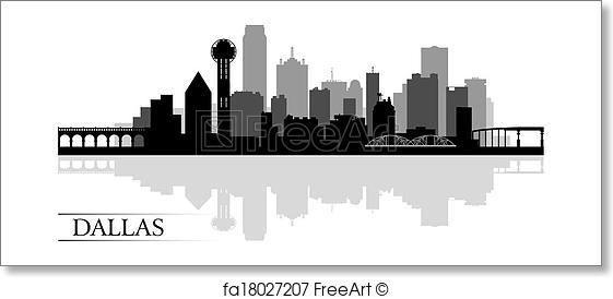 Free Art Print Of Dallas City Skyline Silhouette Background Dallas Skyline City Skyline Silhouette Dallas City