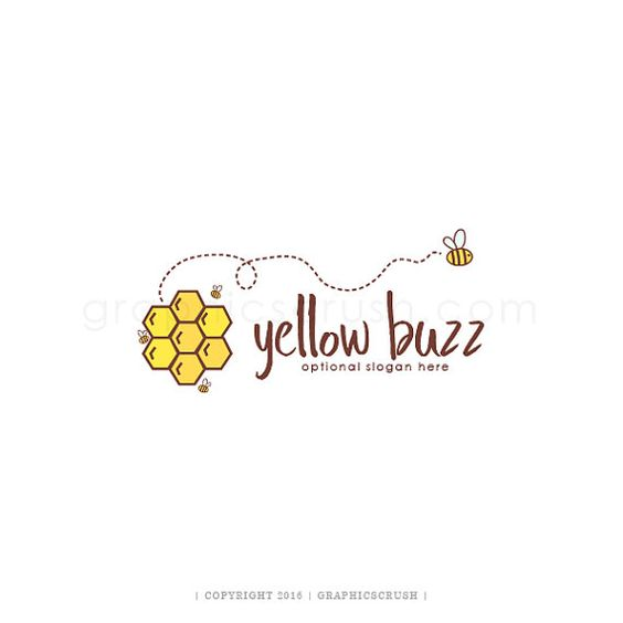 Bee Logo Design Bee Photography Logo Bee Hive Logo Cute Bee Logo