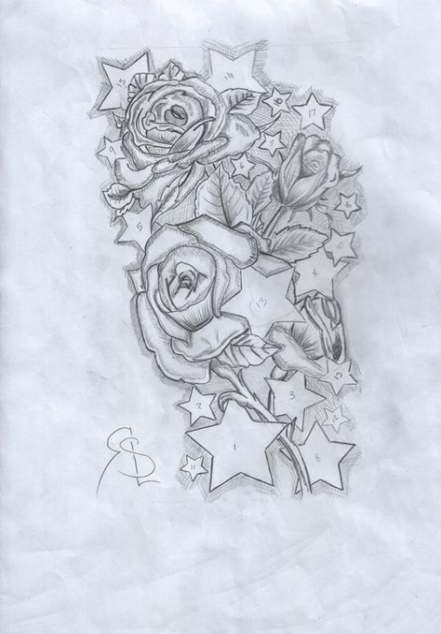 48 Trendy Tattoo Sleeve Drawings Sketches Roses Skull Sleeve Tattoos Star Tattoos Half Sleeve Tattoo