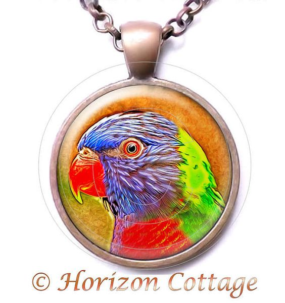 Parrot Digitally Painted in an Antique Copper by HorizonCottage