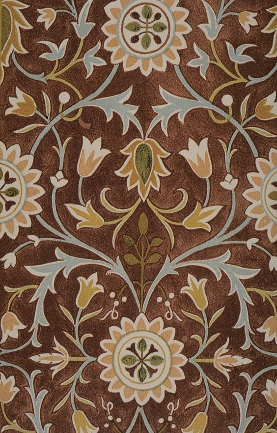 Interior,Nice Brown William Mirros Rug Design Ideas With Beautiful