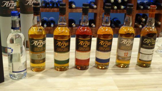 27/03/2015 - Dégustation de 7 Whiskys de la distillerie ARRAN -