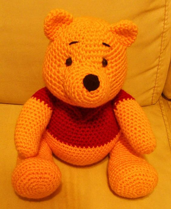 Amigurumi Winnie The Pooh : Amigurumi patterns, Amigurumi and Patterns on Pinterest