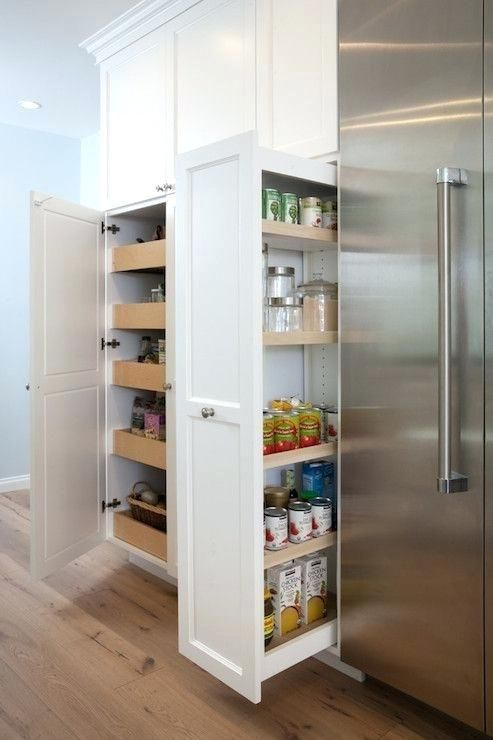Kitchen Pull Out Pantry Kitchen Wall Fitted With W Cabinet Cabinets Drawers Fitted Kitchen Ope Open Pan Kitchen Wall Storage Pantry Wall Pantry Cabinet