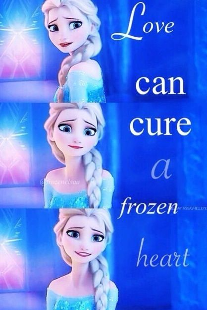 Disney. 'Kay guys, Elsa's SO pretty. I'm just gonna come ...