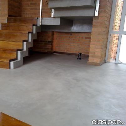 Microcemento alisado tarquini interior exterior enduido - Escaleras de cemento para interiores ...