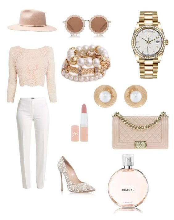 Feeling Nudey by suzetteinell on Polyvore featuring polyvore, fashion, style, Coast, Basler, Casadei, Chanel, Rolex, Oscar de la Renta, House of Holland, Witchery, Rimmel and clothing