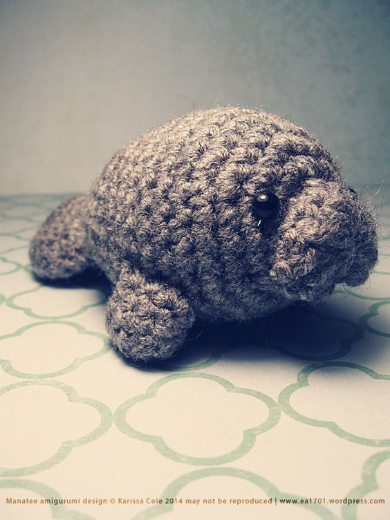 I fell head over heels in like with manatees, and so decided to crochet one of my own :):