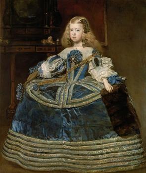 Artist: Diego Rodríguez de Silva y Velázquez  1599 Sevilla - Madrid 1660   Infanta Margarita Teresa (1651-1673) in blue dress
