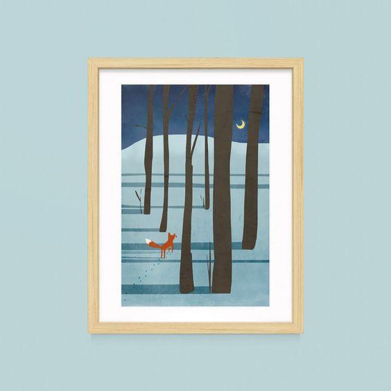 """Print  """"Fuchs im Wald""""  DIN A4  von TreeChild-weil Qualität Freude macht ♥ auf DaWanda.com"""