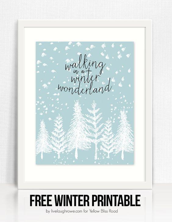 Winter Wonderland FREE Printable   Yellow Bliss Road