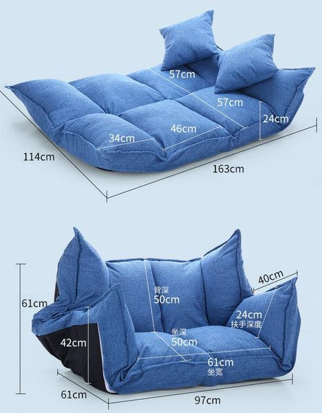 2019 Linen Fabric Upholstery Adjustable Floor Sofa Bed Lounge Sofa Bed Floor Lazy Man Couch Living Room Furniture Video Gaming Sofa From Klphlp01 201 01 Dhgate Com Sofa Bed Lounge Bean Bag