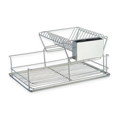 Home Basics® 2-Tier Dish Drainer - BedBathandBeyond.com