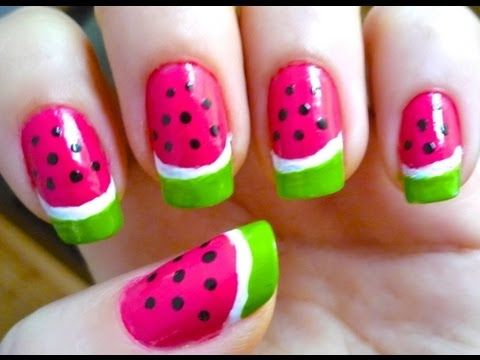 Watermelon Nail Art- How to video