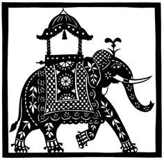 indian elephant painting - Google Search
