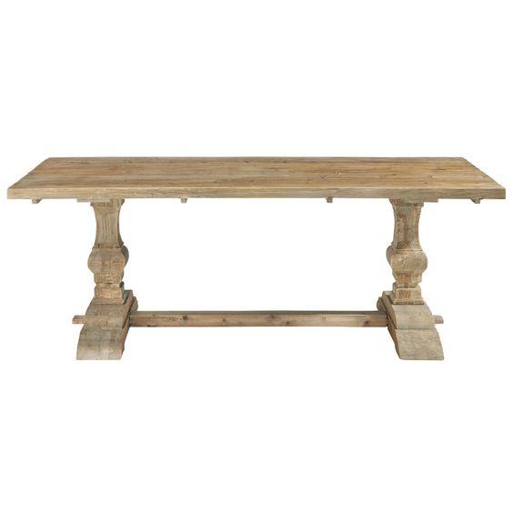 Mesa de comedor de madera efecto envejecido An. 220 cm