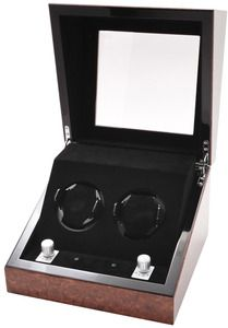 Collectors Multi-Function Chestnut Dual Slot Watch Winder    Retail Price: $650  Yugster Price  $129.00