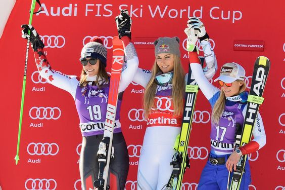 DH Cortina 23-Jan-2016 *** 1.Lindsey Vonn 2.Larisa Yurkiw 3.Lara GUT 4.Tina Weirather