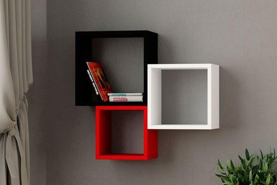 Vente trendy living 20331 etag res cubes 3 cubes kutugen noir blan - Etagere noir et blanc ...
