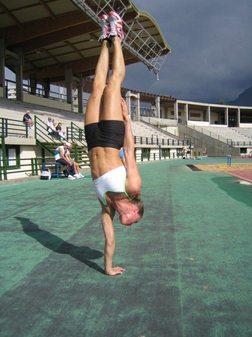 Wow...Major core strength and balance!! I want to be able to do this.