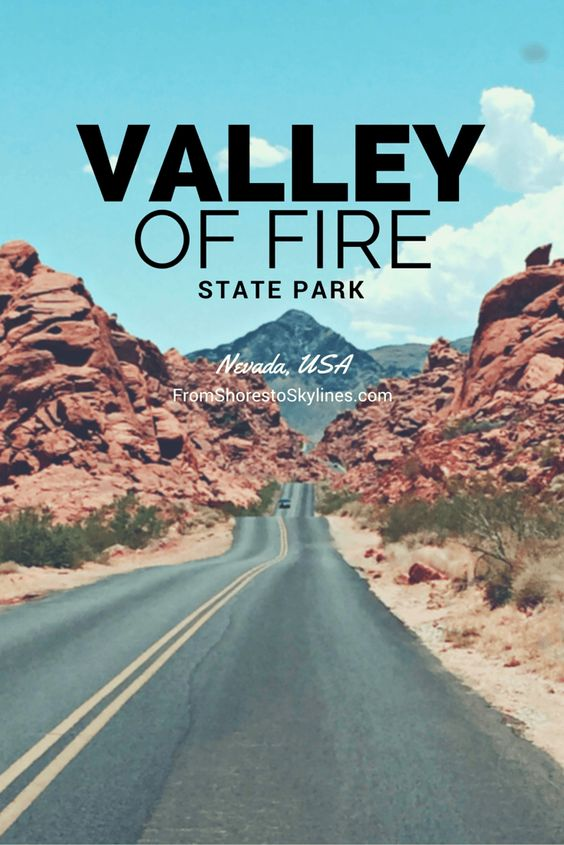 A short (1 hour) road trip north of Las Vegas is Valley of Fire State Park, perfect for hiking. The name matches the park, with it's breathtaking views of red canyons that are scorching hot in the summer!