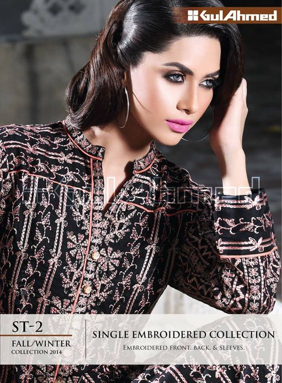 Gul Ahmed Single Embroidered Winter Collection 2014 Winter period brightens up fashion. Every dress is a great verification of fashion and style. Gul Ahmed is now all set to launch the grand winte...