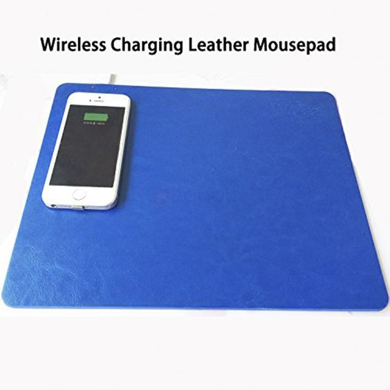 WrDeet Qi Wireless Charging Leather Mouse Pad. Description  Never be caught with charging cables when your mobile phone is out of juice. This Wireless Charging Leather Mouse Pad allows you to charge your Qi-enabled smartphone by placing it on the mouse pad. Features  Compatible with Qi-enabled smartphones Including Samsung, iPhone, HTC, LG, Xiaomi, etc. for wide-ranging use.  LED indicator Indicating the charging status.  Microfiber Leather Offers a smooth and durable surface.