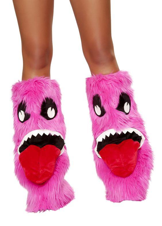 Pink Monster Legwarmers