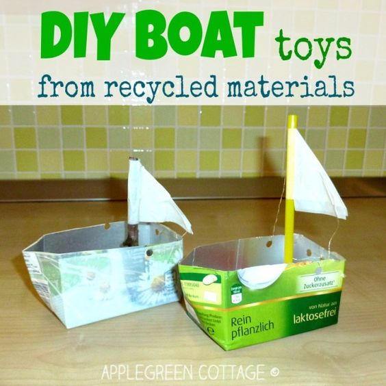 how to make a boat for kids from recycled materials