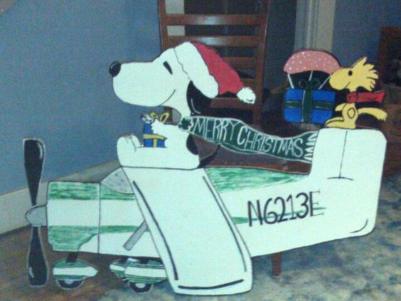 flying ace snoopy christmas yard art patterns