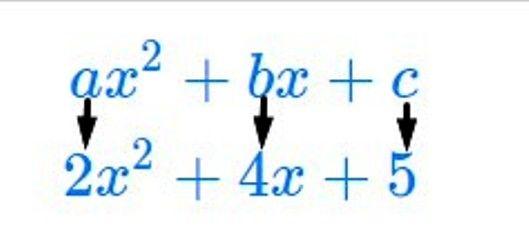 standard form quadratic expression  Standard form of a quadratic equation and coefficients ...